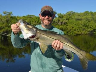 Big Fort Myers Snook Caught Fly Fishing With What A Hawg Charters