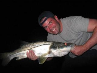 Great Big Snook caught snnok fishing at night in Ft Myers