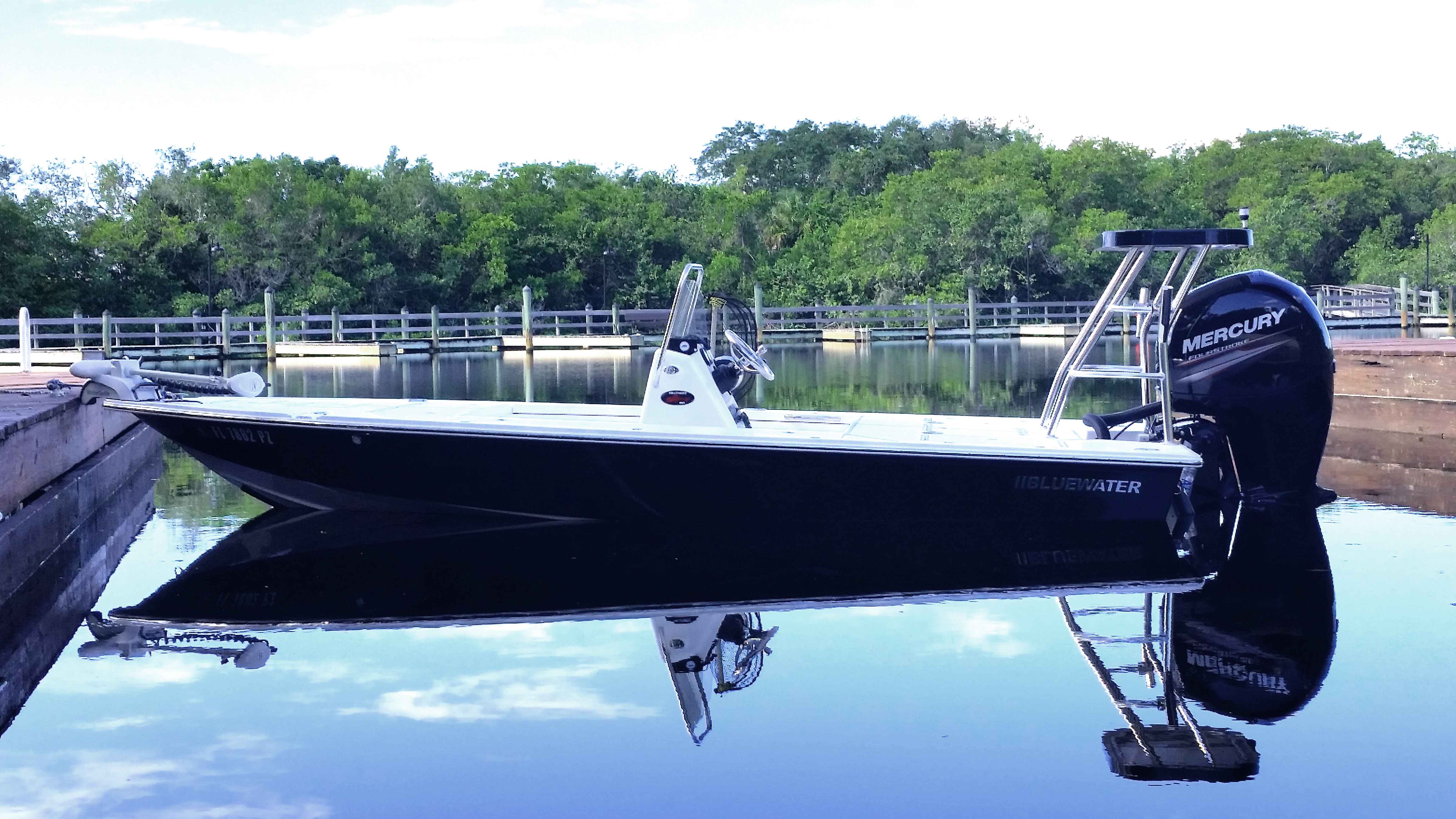 Bluewater Flats Boats - Most Desk Available In An 18 foot flats Boat