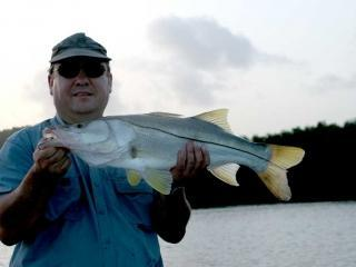 Nice Early Morning Snook Caught In The Fort Myers FL Area With What A Hawg Charters