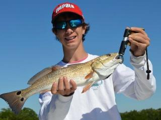 Happy Angler With His First Fort Myers Redfish