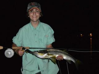 Night fishing charters in Ft Myers for Snook