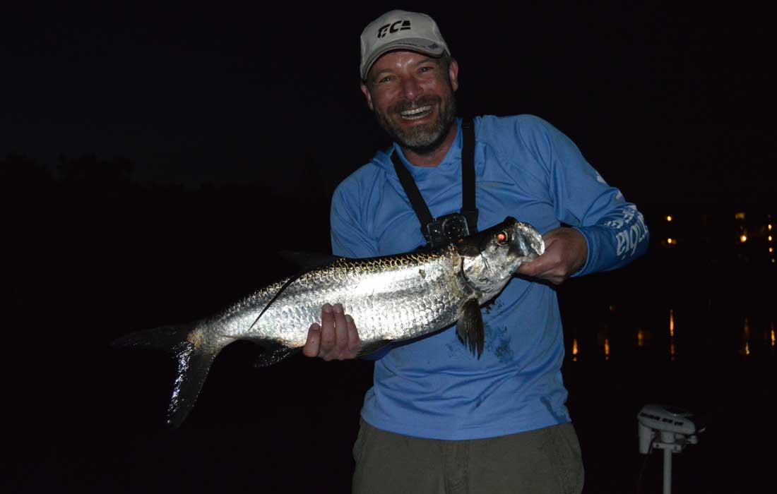 Fly fishing charters at night for Tarpon