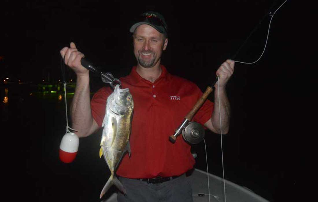 Night fishing in Ft Myers for Jacks
