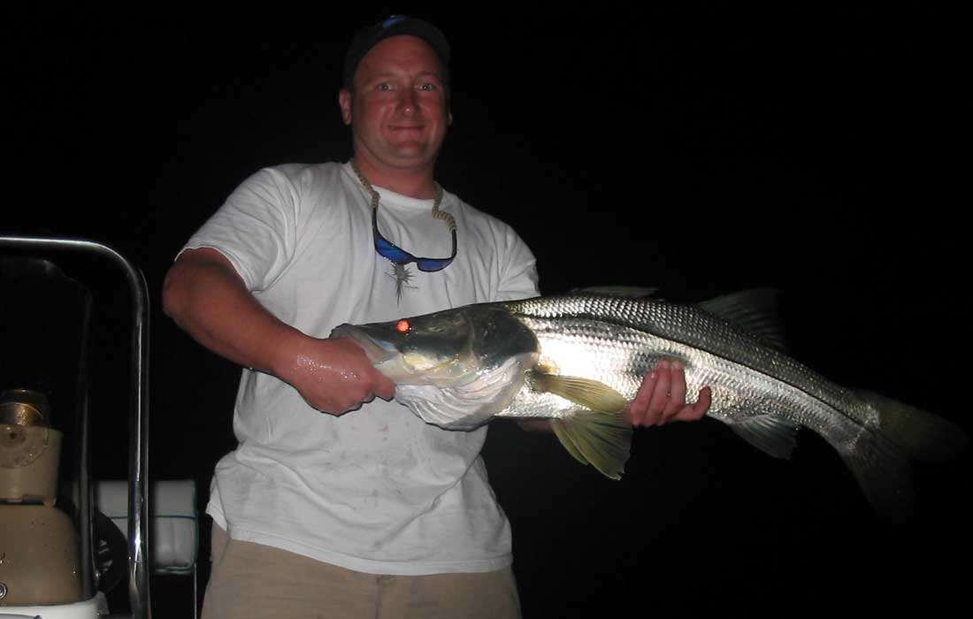 Night Fishing For Big Snook In Fort Myers